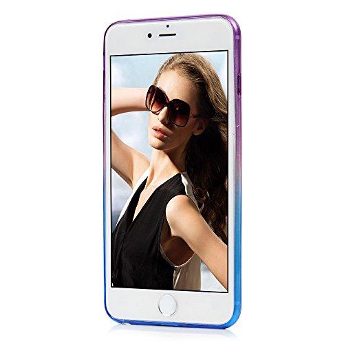 """iPhone 6 6S 4.7"""" Coque - YOKIRIN TPU Souple Coloré Phone Case Bling Dépolissement Couleur Dégradée - Vert + Jaune Vert-Jaune"""