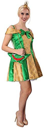 Sexy Froschkönigin-Kostüm | Größe: 40-42 | Märchen-Kostüm für Karneval oder Fasching | Froschkönigin-Kleid für Motto-Partys | Erwachsenenkostüm für Damen | märchenhafte Frosch-Königin (Prinzessin Kostüm Und Prinz Frosch)