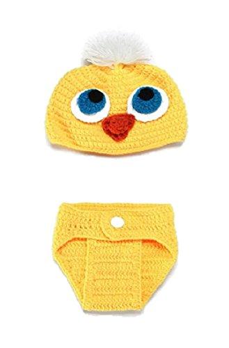 Baby Mädchen/Jungen häkeln stricken Kostüm Fotografie Prop Outfits (Küken) (Mädchen Küken Kostüm)