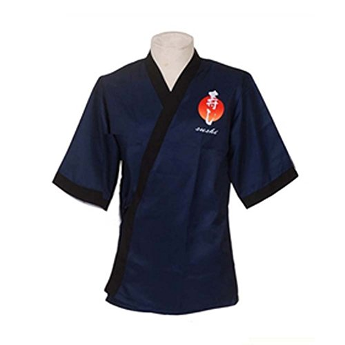 Japanische Stil Sushi Bar Chef Uniform Work Clothes Kellner Bekleidung Bartender Uniformen Mäntel, # 09 (Chef Mäntel Von Chef Works)