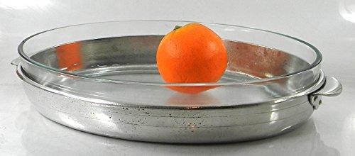 CAVAGNINI Pirofila in vetro e purissimo peltro. Vetro temperato per forno. per una tavola elegante. Tipico stile italiano.