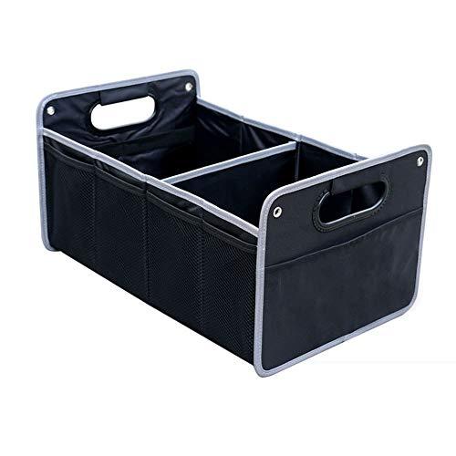 Car storage box Boîte de Rangement Voiture, boîte de Rangement Coffre de Voiture, 50cm * 32cm * 26cm, Noir