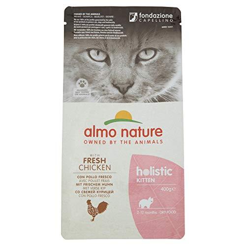 almo nature Holistic Cat Kitten mangime Secco per Gattini Gusto Pollo e Riso gr.400