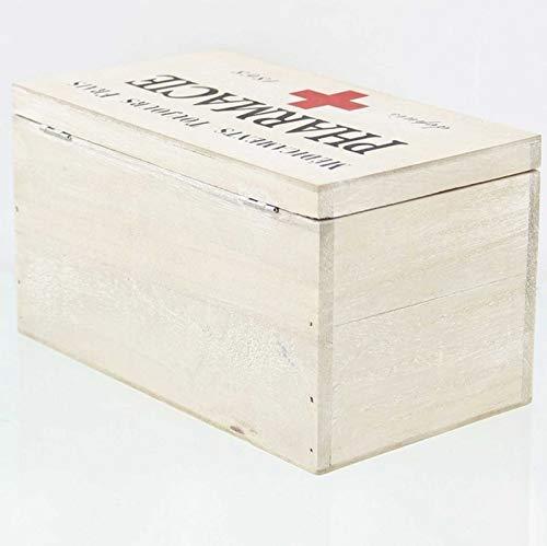 41075PYbjTL - SIDCO Medicinal Buzón Madera Botiquín Primeros Auxilios Box Clayre & Eef Casa Decorativa Almacenamiento