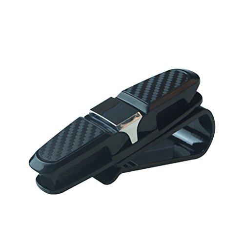 LIOOBO Brillenhalter für Auto Sonnenblende eingebauten Schwamm Sonnenbrille Brillen Clip Kleiderbügel