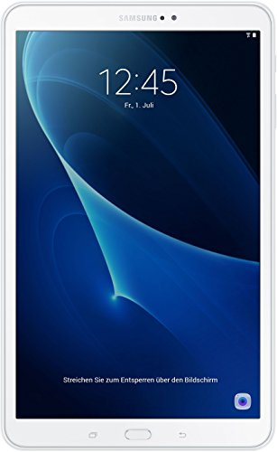 Samsung Galaxy Tab A (2016) T580 25,54 cm (10,1 Zoll) WiFi Tablet PC (Octa Core 2GB RAM 16GB eMMC Android 6,0 neue Version) weiß