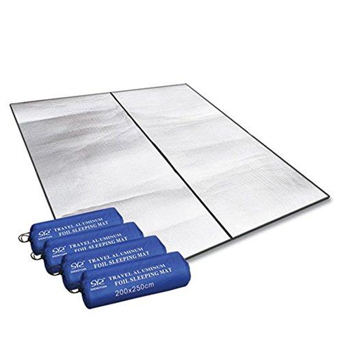 """200 x 250 cm (78,8 \""""x 98,43\"""") Alu Isomatte Isoliermatte Zeltmatte Bodenmatte Matte Thermomatte"""
