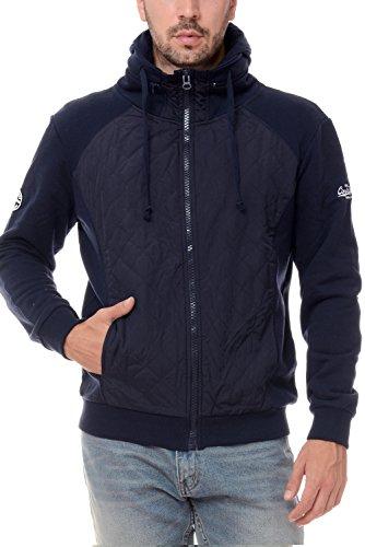 M.Conte Sweat Sweatshirt Jacket Uomo Sport Giacca Felpa Ricardo blu scuro XL