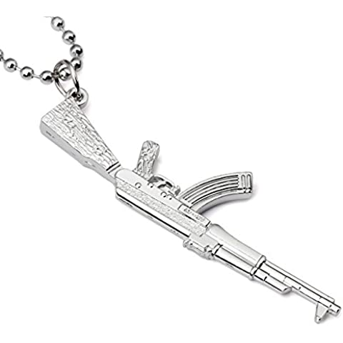nyuk Mens individualità Submachine Gun Ciondolo
