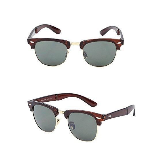 Sonnenbrillen OHQ UV400 Sonnenbrille Retro Männlichen Und Frauen Fahren Klassische Brille Gefaltete Gläser für Mode Fahren Angeln Alltäglichen Casual. (D) (Wand Brillen-halter)