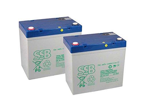 Preisvergleich Produktbild Kompatibler Accu Scheuersaugmaschine Hako B 43 2x 12V 66Ah AGM Blei wartungsfrei