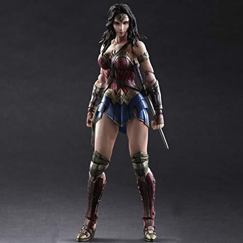 FKYGDQ Anime Modell Statue Batman/Wonder Woman Hohe 25cm Dekoration/Geschenk/Sammlerstück/Geburtstagsgeschenk Spielzeugstatue