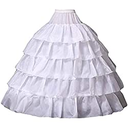 6d6475d07 Mallalah Crinolina Enaguas Mujer Largas para Vestidos de Novia Boda Faldas  Falda Enagua de Crinolina para