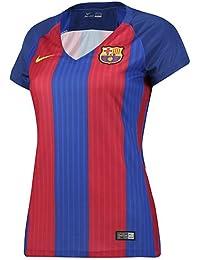 Nike Fcb W Ss Hm Stadium Jsy Camiseta Manga Corta Línea F.C. Barcelona, Mujer, Azul (Sport Royal / Gym Red / University Gold), M