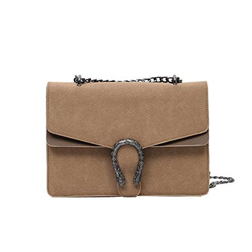 Frau BUKUANG Schultertasche Messenger Bag Handtasche Kette Tasche Tiger Tasche Schmuggler,G A