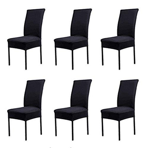 HMwish koobea Fundas para sillas Pack de 6 Elástico Fundas sillas Comedor...