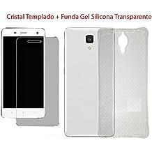 Fologar Pack Protector de Pantalla Cristal Templado + Funda transparente para XIAOMI MI4 MI 4 LTE