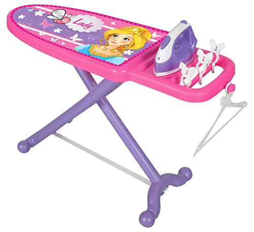 Jamara 460259 Little Laundry Princess - Rollenspiel Bügelset - Stabile Kippsichere Mechanik, für Kinder Optimierte Höhe, Wäscheklammern, Kleiderbügel zum Aufhängen Der Kleider, leichte Montage