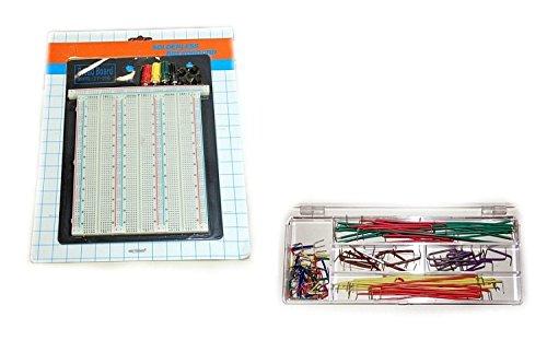 Steckboard mit 2390 Kontakten und 140 Drahtbrücken Breadboard Steckplatine Experimentierplatine