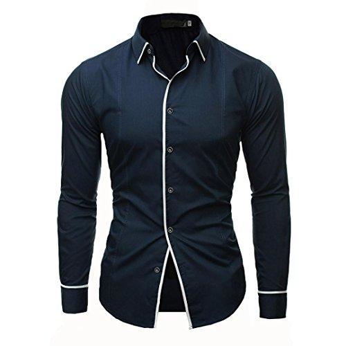 YunYoud Männer Shirt Fashion Einfarbig Männlichen Casual Langarm-shirt kurzärmelige hemden herren männerhemd kurzarm langarm extra kurz herrenhemden günstig online hemd (Coole Jersey-kurze)