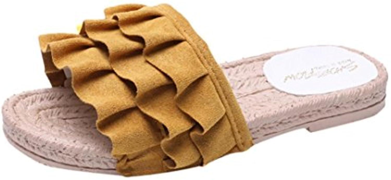 et # 10047; cheng et les # 10047; & # 10047; les et femmes des sandales, mesdames fashion couleur summer sandale vider b out s carrés croûton flat sandales... 6fa450