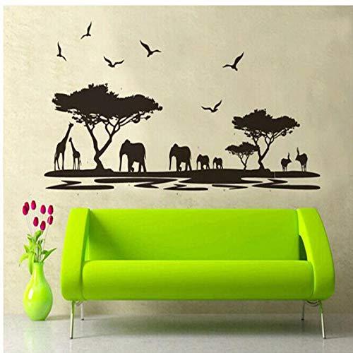 Zyzdsd Moderne Afrikanische Tiere Abnehmbare Wand Aufkleber Kunst Decals Für Room Decor Art Wandbild Weihnachtsschmuck Für Zu Hause -