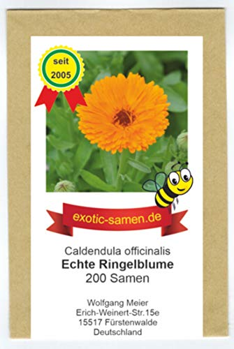 Echte Ringelblume - gefüllte, tief orange Blüten - Calendula officinalis - Zier/Arzneipflanze - 200 Samen