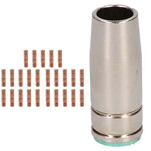 1 Leichentuch & 25x0.6mm Kontakt Tipps MIG-Schweiß Binzel Stil Euro Fackel MB25 -