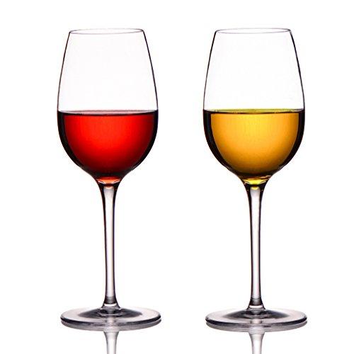 MICHLEY Copas de Vino Tinto o Aguardiente Irrompibles, reutilizable, 100% Inastillables, Libres de BPA, Aptos para Lavavajillas, 36 cl juego de 2