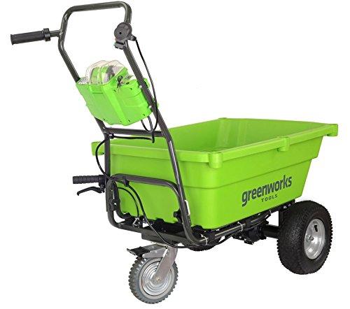 Preisvergleich Produktbild Greenworks Tools 7400007Schubkarre Elektrische Kabellos,-Ionen Behälter 207, ohne Akku oder Ladegerät, 40V, Grün