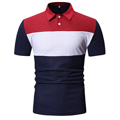 Mann Mode Baumwolle Kurzarm Fit Polo T Shirts Stilvolle Plus Größe Dünne Golf Sleeve Shirts Casual Tennis Shirts Sommer Rugby Shirt Sportbekleidung - Baumwolle-oxford-rugby
