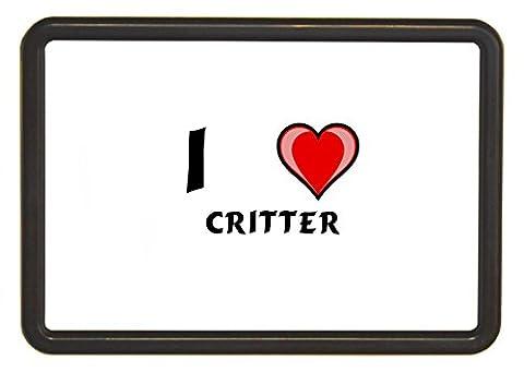 Dunkelbraun Bilderrahmen mit Kühlschrankmagnet mit austauschbarem Bild. Enthält Paper mit Ich liebe Critter (Vorname/Zuname/Spitzname)