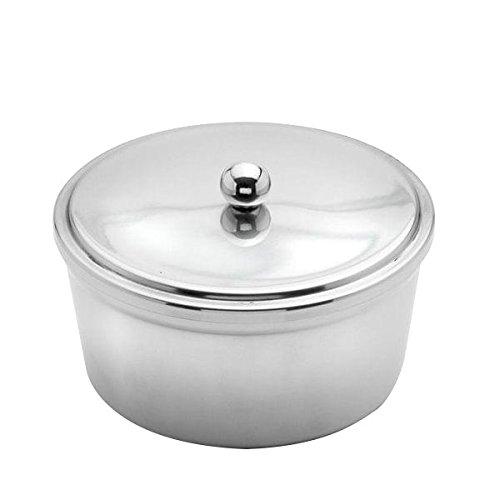 Weis Margarinedose Durchmesser 13 cm, Edelstahl, Silber, 13 x 13 x 6.5 cm