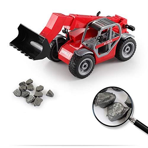 SXJ Fernbedienung Truck, RC Bagger Spielzeug, Fernbedienung Baufahrzeuge, Retractable Saugarm, 2.4G Radiosteuerung 4 Wheel Bulldozer, Elektronisches Spielzeug