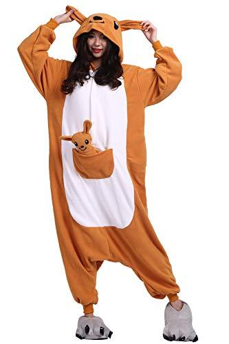 Pyjama Tier Cosplay Känguru Cartoonstil Animal Kigurumi Plüsch -