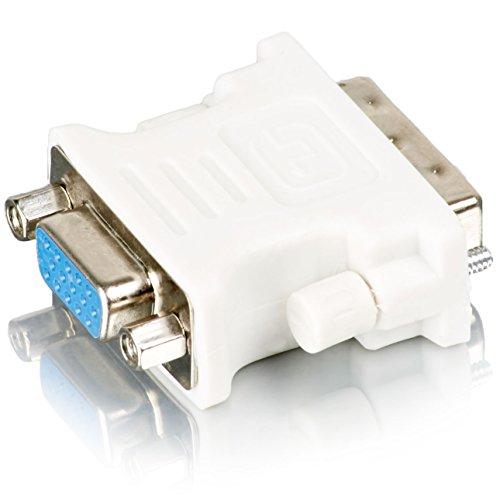 Movoja DVI Adapter (DVI-D zu VGA) DVI 24+5 zu VGA Adapter | Digital auf Analog Adapter für Grafikkarten, Beamer, und Monitore