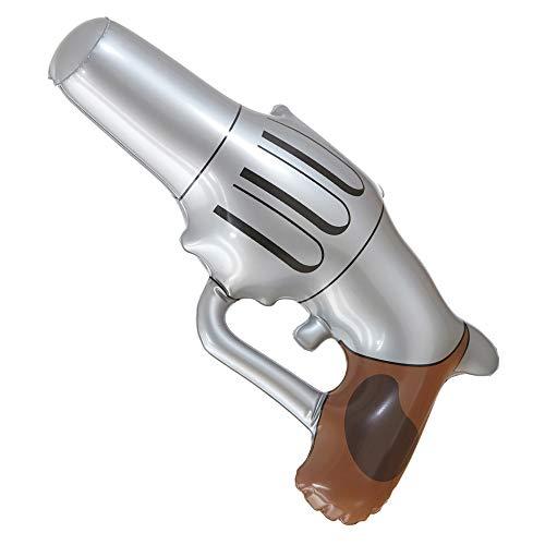 (Widmann 04744 Aufblasbare Cowboypistole, Unisex– Erwachsene, Braun)