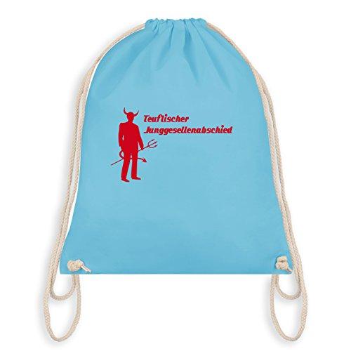 JGA Junggesellenabschied - Teuflischer Junggesellenabschied - Turnbeutel I Gym Bag Hellblau