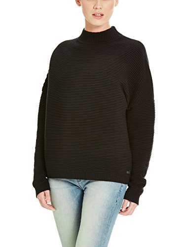 Bench Damen Pullover Wonderlust, Schwarz (Black BK014), Medium
