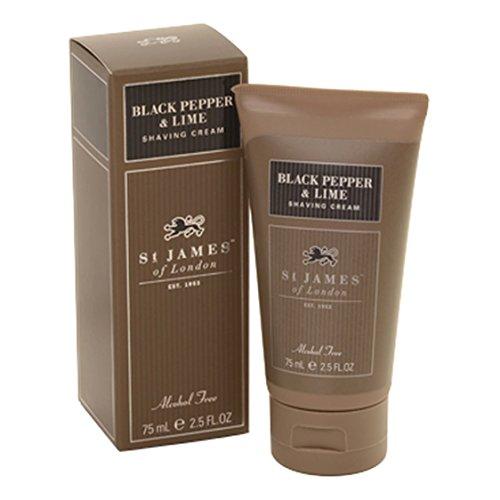 St James of London Black Pepper & Persian Lime Shave Cream Tube