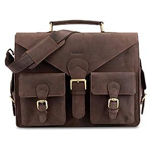 4107Gy5nMBL. SS300  - LEABAGS Dayton maletín de auténtico Cuero búfalo en el Estilo Vintage - Negro