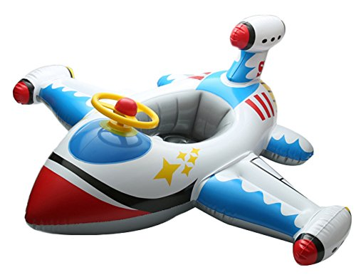 V-SOL Flotador para Bebés con Asiento de Juguete Piscina Niños Modelo Avión Multicolor-A