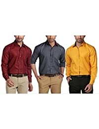Mark Pollo London Formal Pack Of 3 Shirts Combo For Men By Mark Pollo London