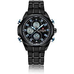 Herren Stahlgeschäft multifunktionale wasserdicht Uhren Mode ansehen