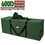 OurWarm Borsa per Albero di Natale con Manici, in Tessuto Oxford, Adatta per Alberi di Natale Fino a 1,2 m - 2,4 m, Colore: Verde