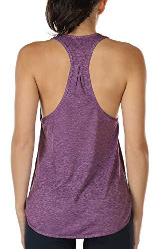 ank Top Damen Racerback Lauftop Fitness Running Shirt Oberteile (L, Grape) ()