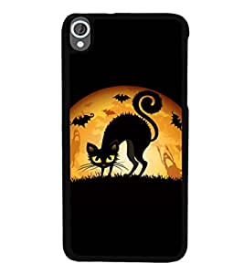 printtech Cool Cat Ghosts Back Case Cover for HTC Desire 820::HTC Desire 820Q::HTC Desire 820S