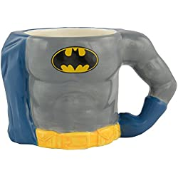 Taza cuerpo 3D Batman 0122123, de cerámica, gris, alrededor de 350 ml, 12,8 x 7,6 x 7,7 cm