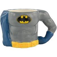 Batman 0122123 Tasse 3D Body, Keramik, grau, circa 350 ml, 12,8 x 7,6 x 7,7 cm