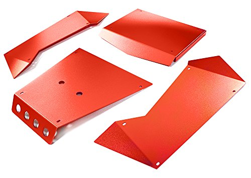 Integy RC Model Hop-ups C27004RED Aluminum Alloy Panel Kit for Axial 1/8 Yeti XL Rock Racer Buggy - Rc-kit Yeti
